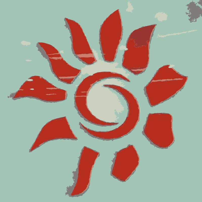 Free A sun icon