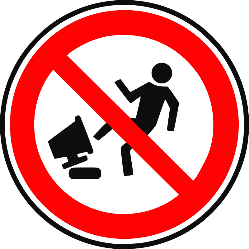 Free Clipart: Wrong Device | augustoschwartz