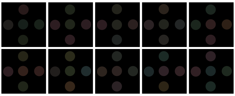 Free test of color blindness