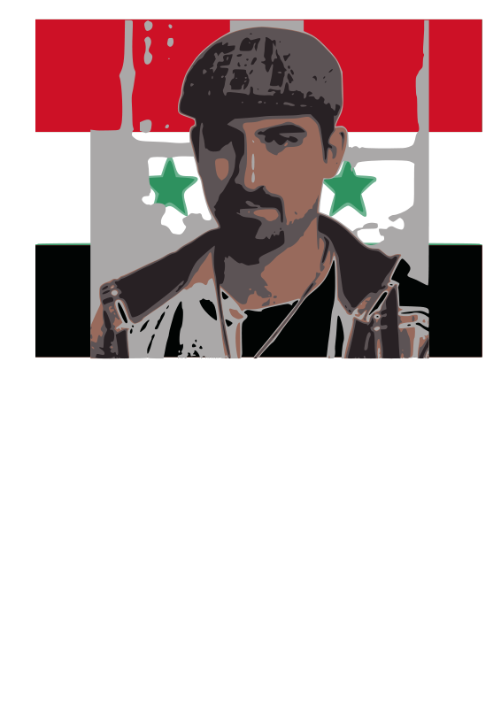 Free Bassel with syria flag