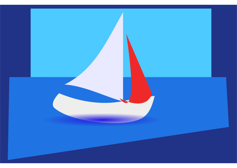 Free abstract sailing boat