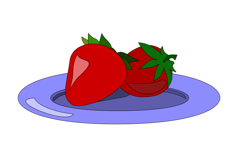 Free Strawberries on a plate