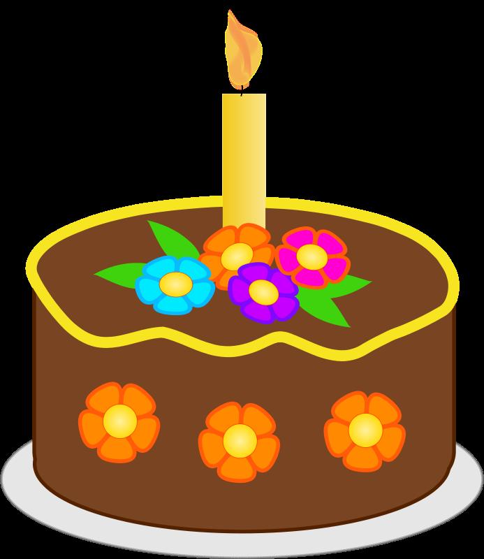 Sensational Free Clipart Chocolate Birthday Cake Brown Version2 Funny Birthday Cards Online Necthendildamsfinfo