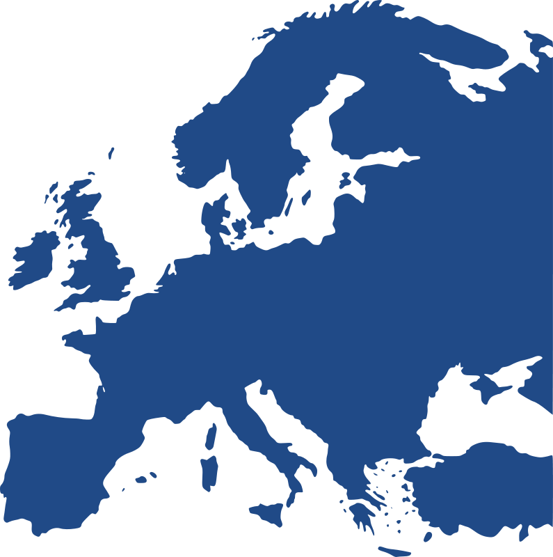 Free Map of Europe (equidistant)