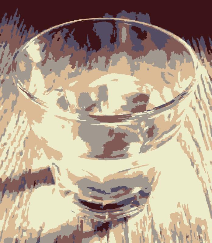 Free Clear glass half full on wood grain