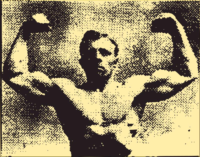 Free Muscle Man - 1910