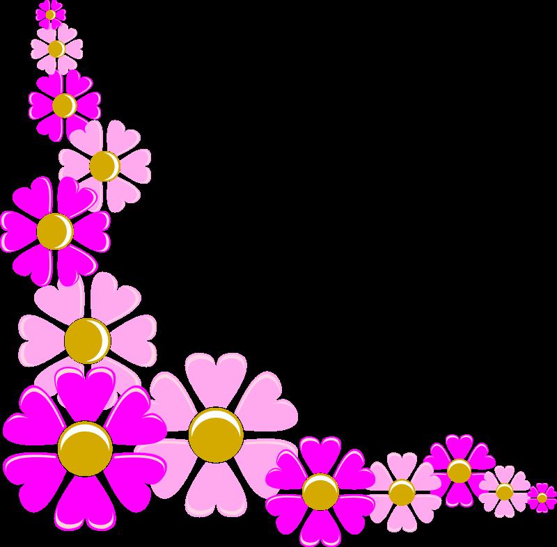 Free pink flower corner