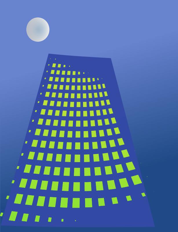 Free Building in moonlight