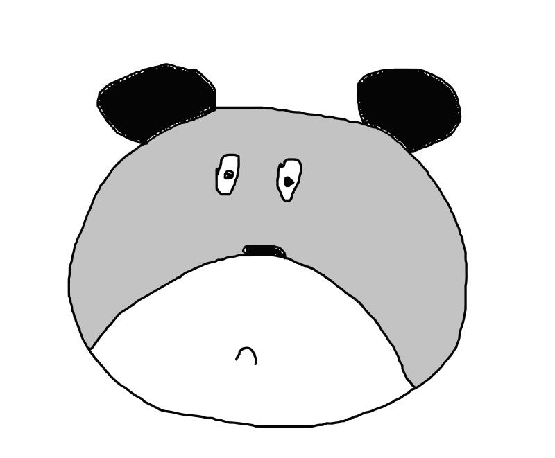Free Sad bear gray