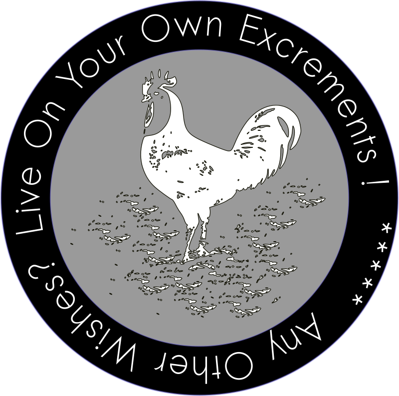 Free LIVE ON YOUR OWN EXCREMENTS -- Patch