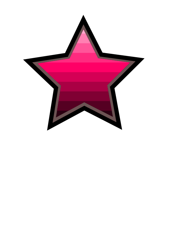 Free Clipart: Ombre star | kaleah777