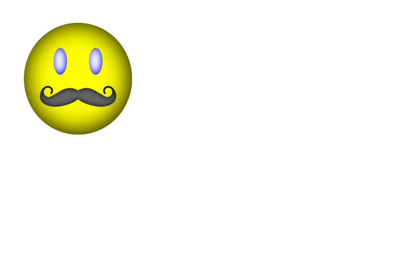 Free Happy Face Mustache