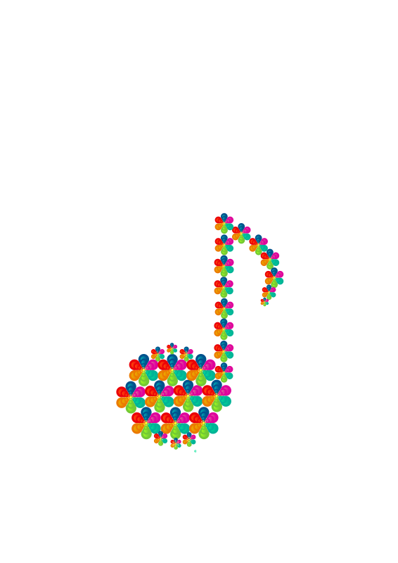 Free aiflowers musical symbols eighth note