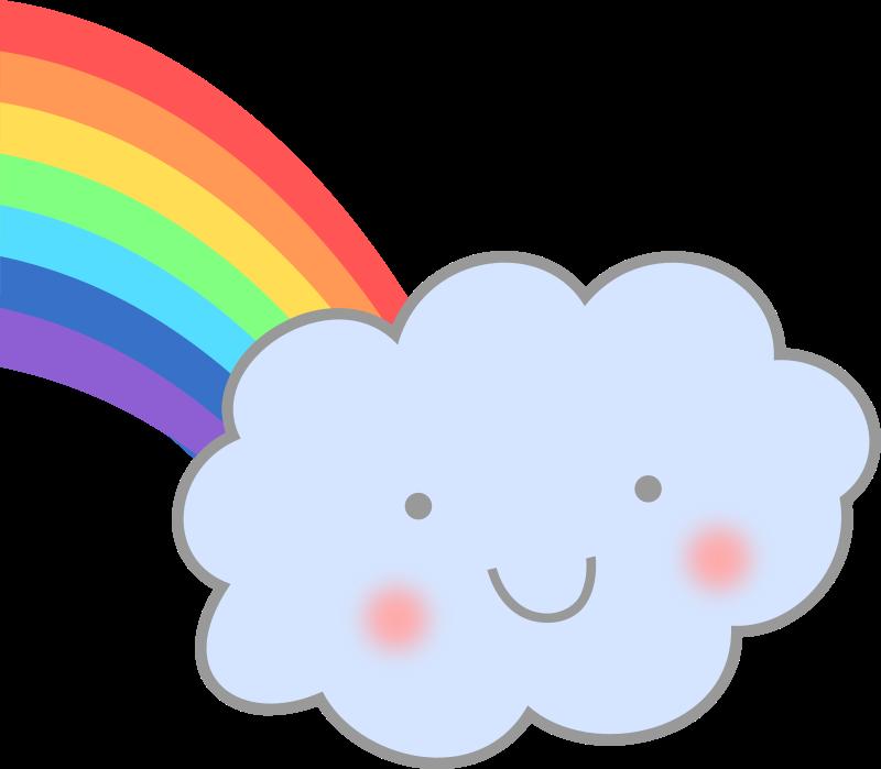 Free Cute Cloud with Rainbow