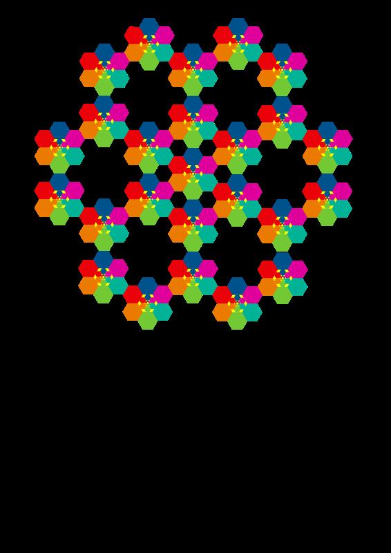 Free Hexagonal aiflowers 10