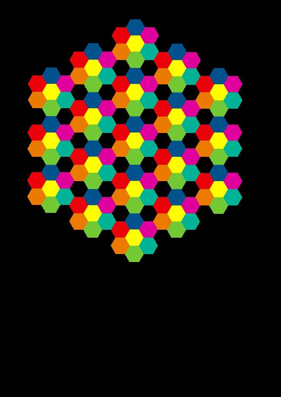 Free Hexagonal aiflowers 6