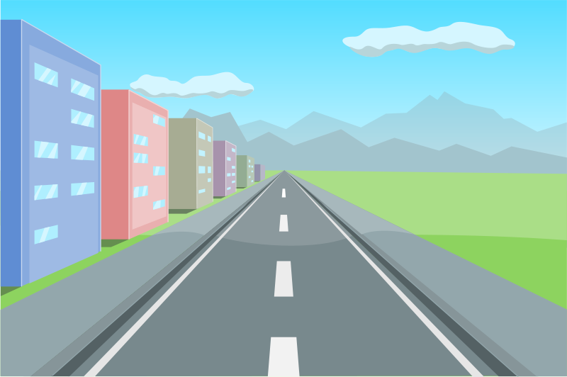 free clipart road in perspective ahninniah