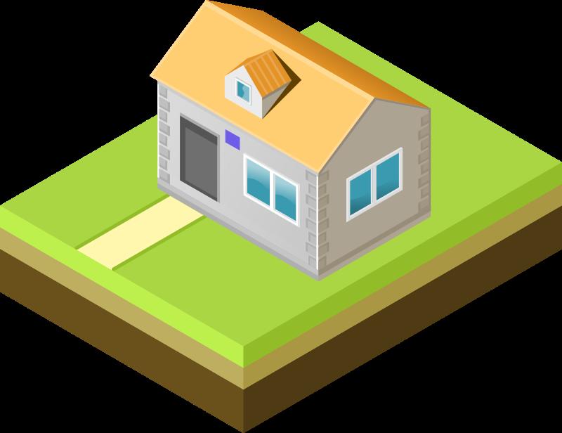 Free Isometric house