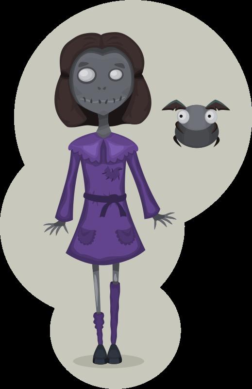 Free Zombie girl