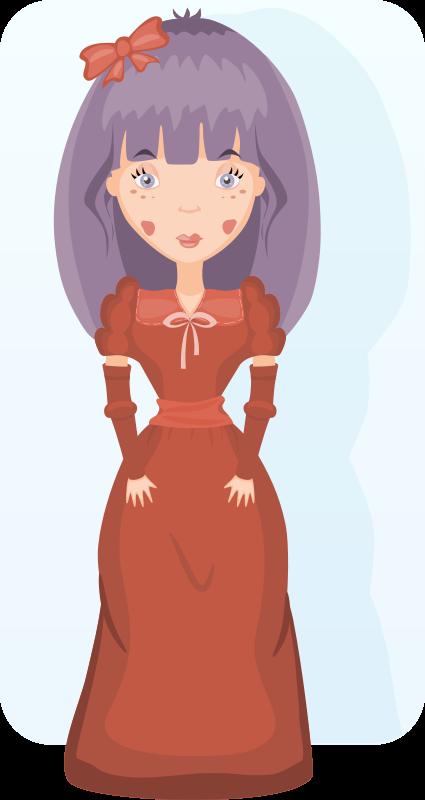 Free Clipart: Victorian girl | AhNinniah