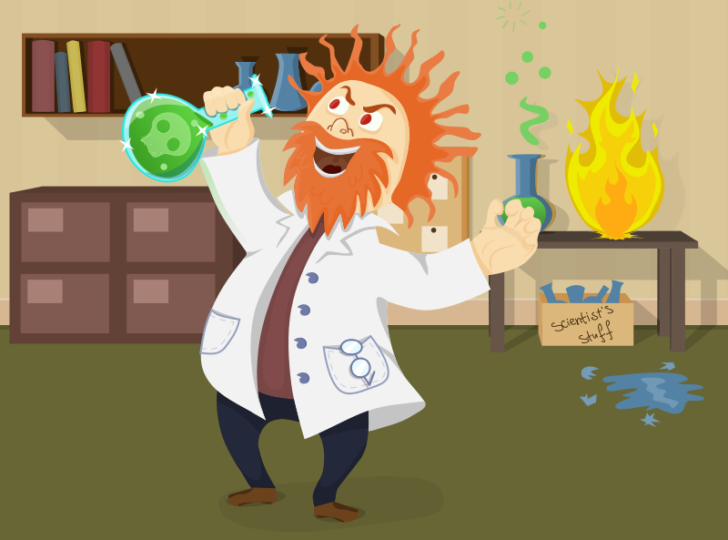 Free Clipart: Mad scientist | AhNinniah