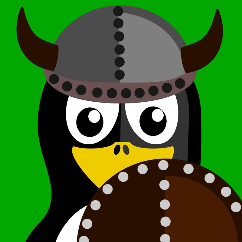 Free viking penguin