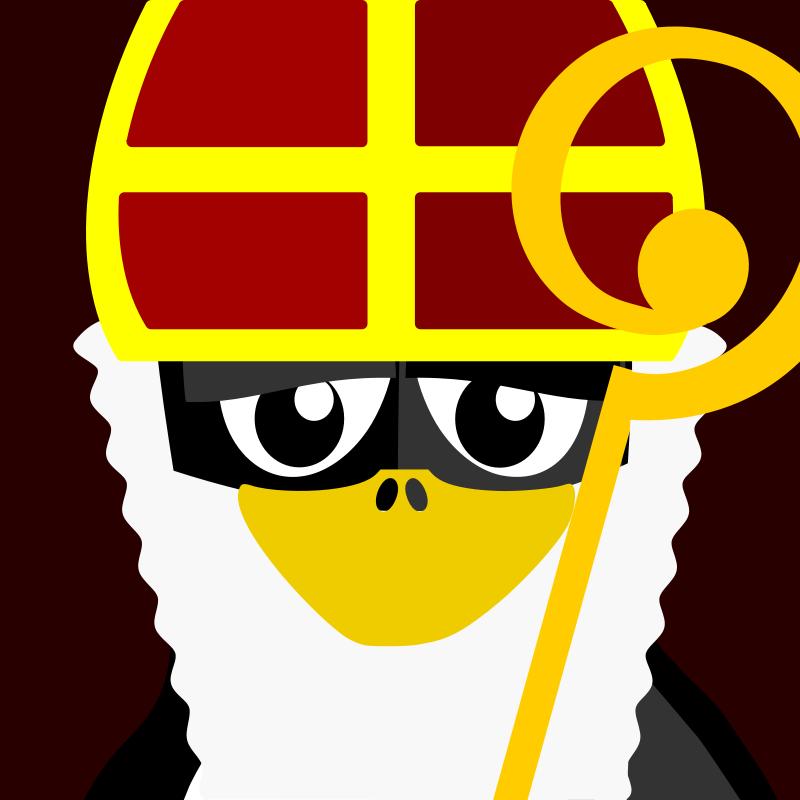Free sinterklaas penguin