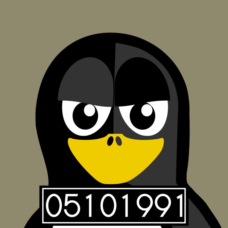 Free mugshot penguin