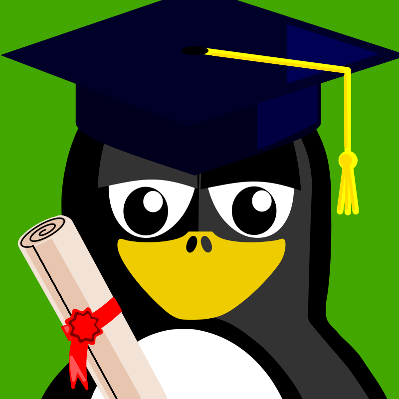 Free graduation penguin