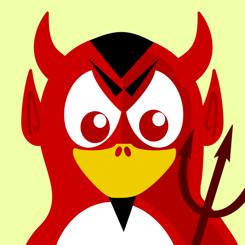 Free devil penguin