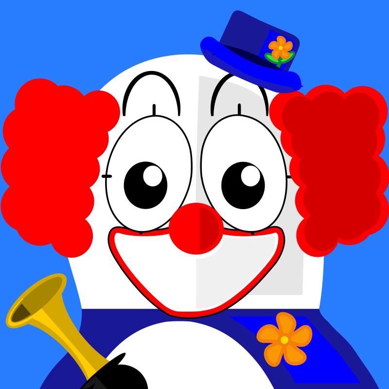 Free clown penguin
