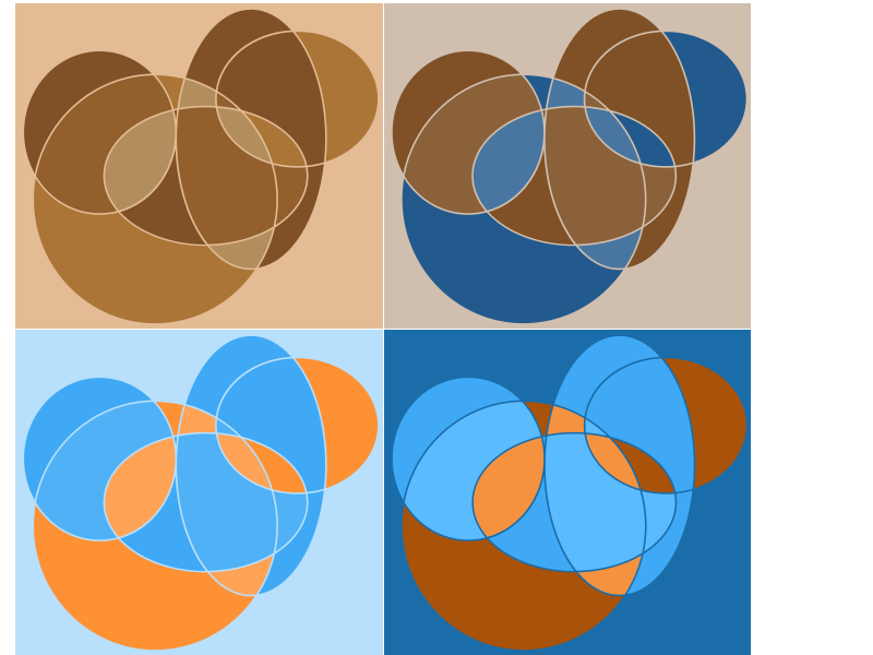 Free Clipart: Abstract geometric circle compositions | intergrapher
