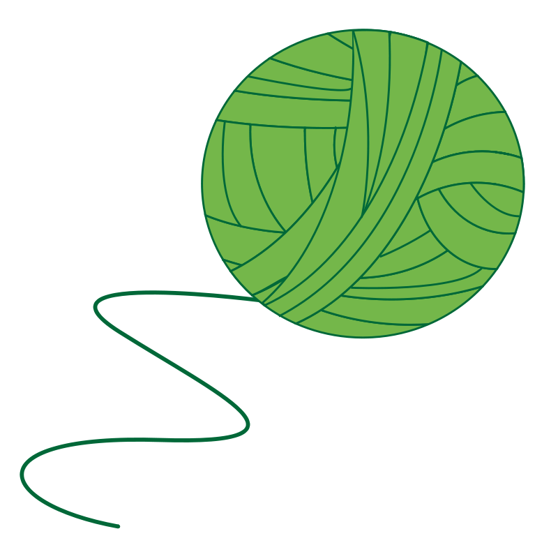 Free Green Ball of Yarn