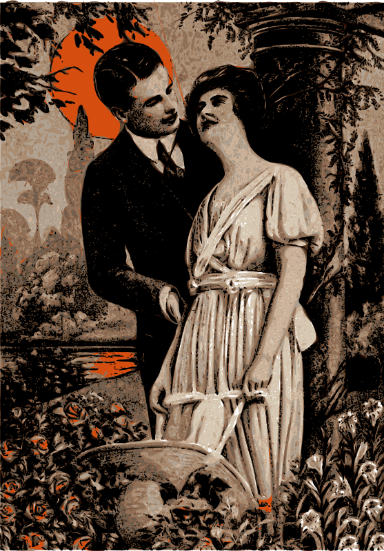 Free Orange Sun Couple