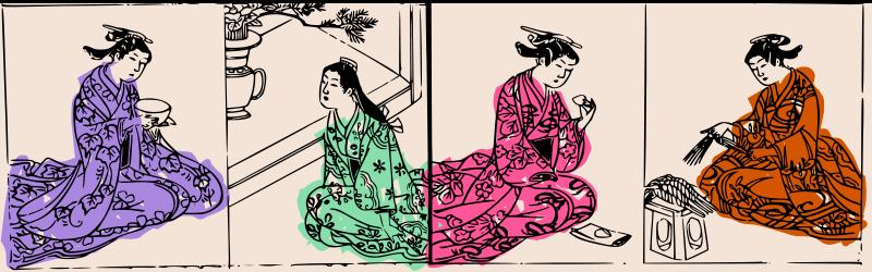 Free Four Kimono Ladies - colour
