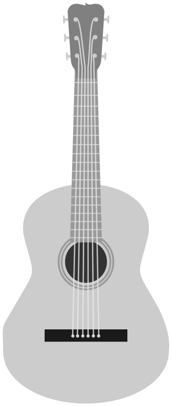 Free Grayscale acoustic guitar
