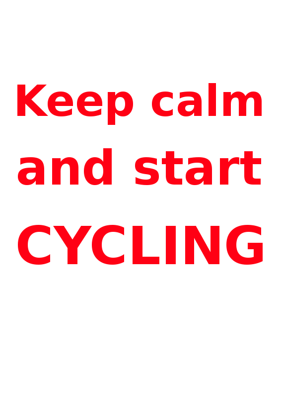 Free Keep calm & start cycling