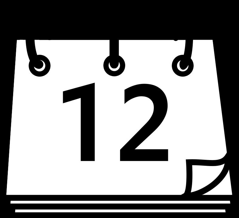 Free Clipart Tango x office calendar black white – Free Office Calendar