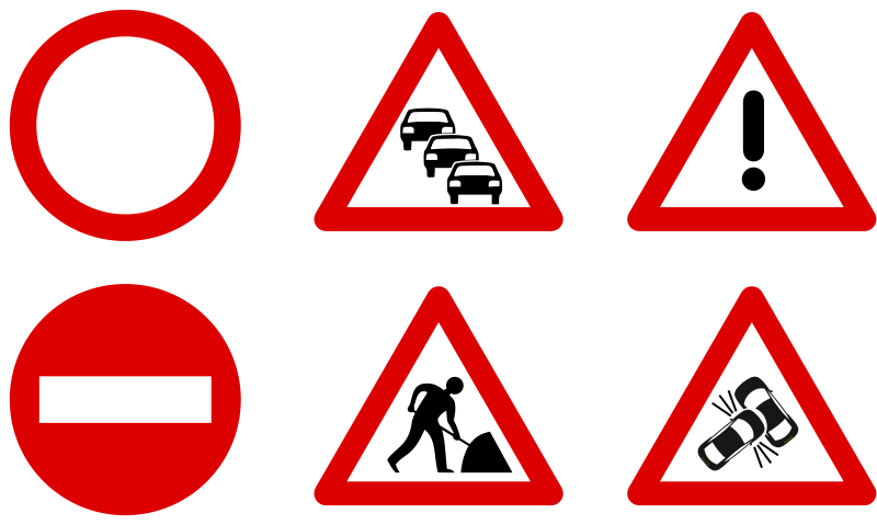 Free Traffic sign icons