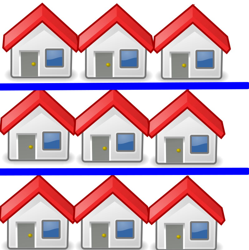 Free Clipart: 9 houses