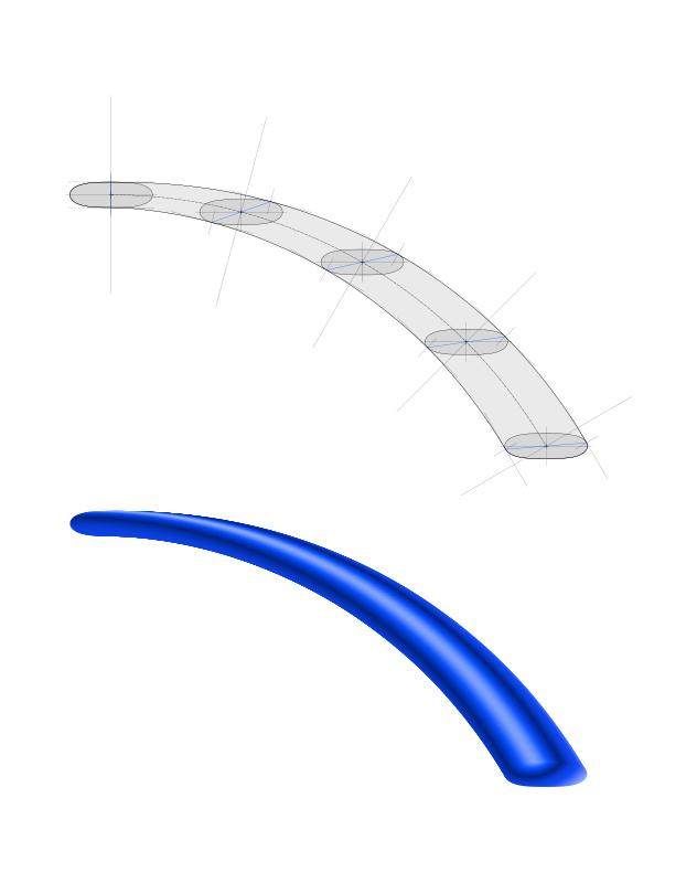 Free calligraphed curve II