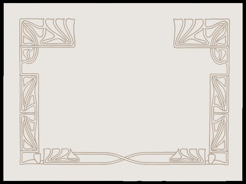 Free Art Nouveau Ornament Frame