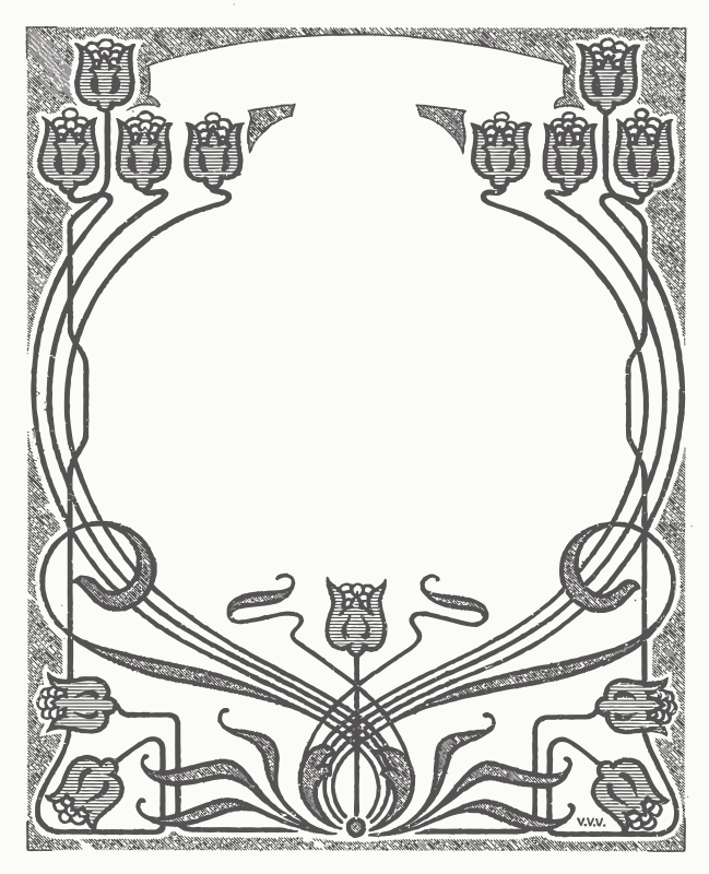 Free Art Nouveau Flower Frame