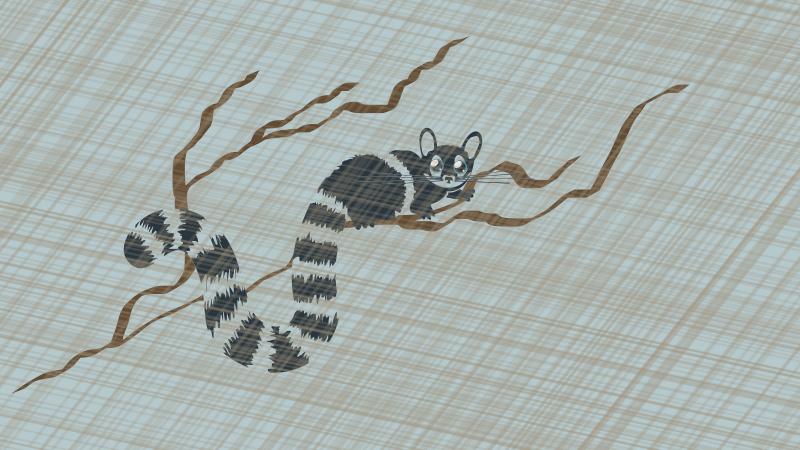 Free Raring Ringtail Cat