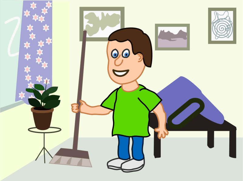 Free apartment cleaning cartoon