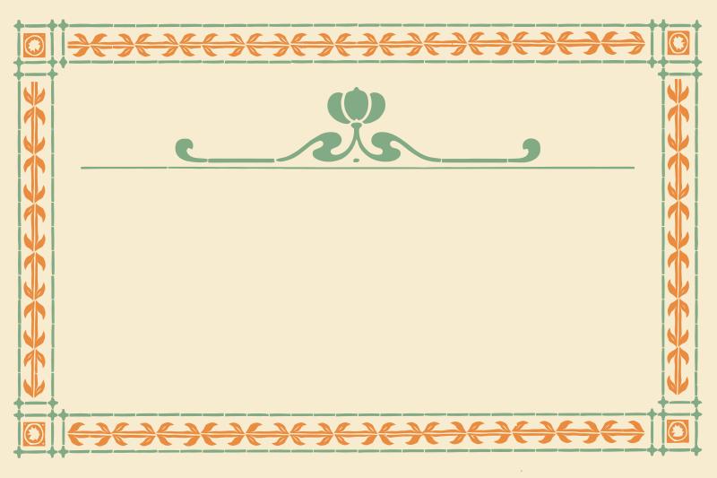 Free Art Nouveau Pumpkin Frame