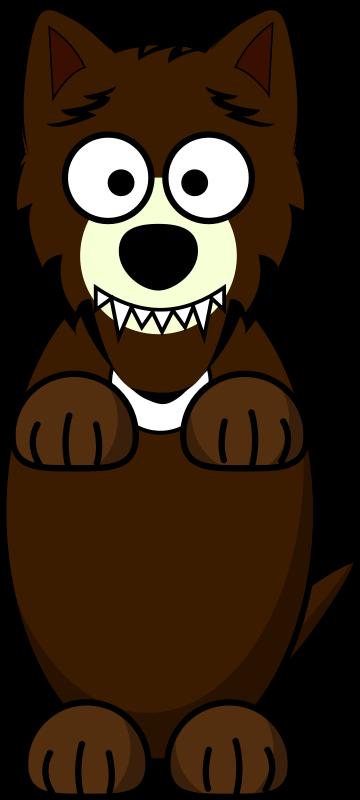 Free Cartoon Wolf