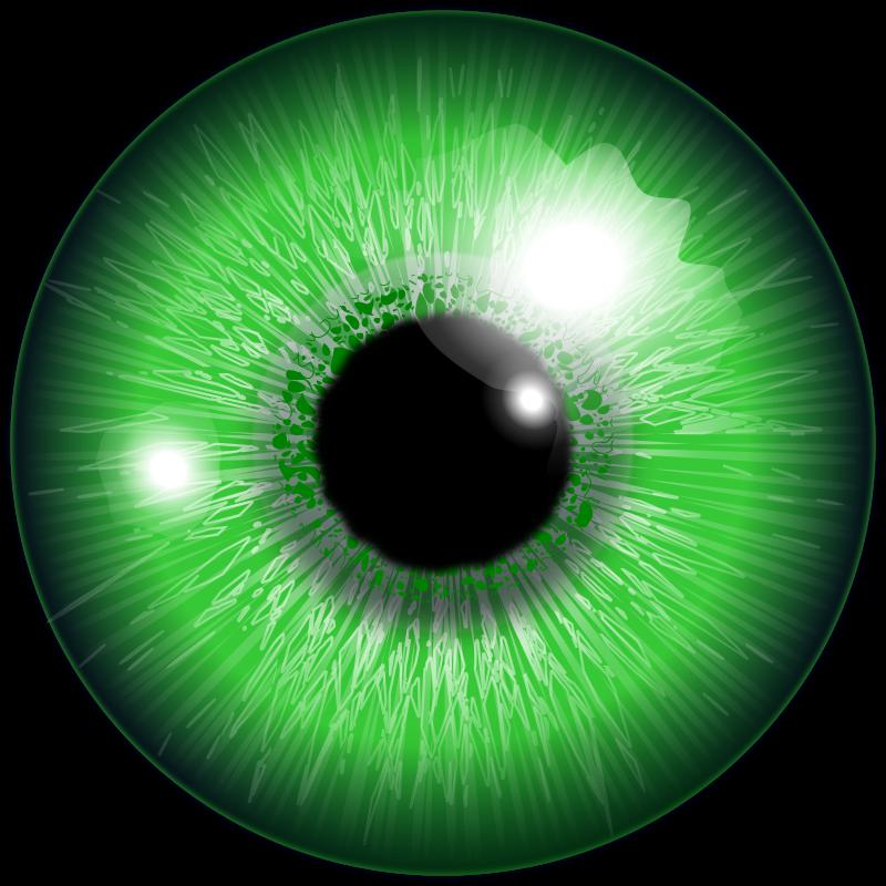 Free eye, akis žalia
