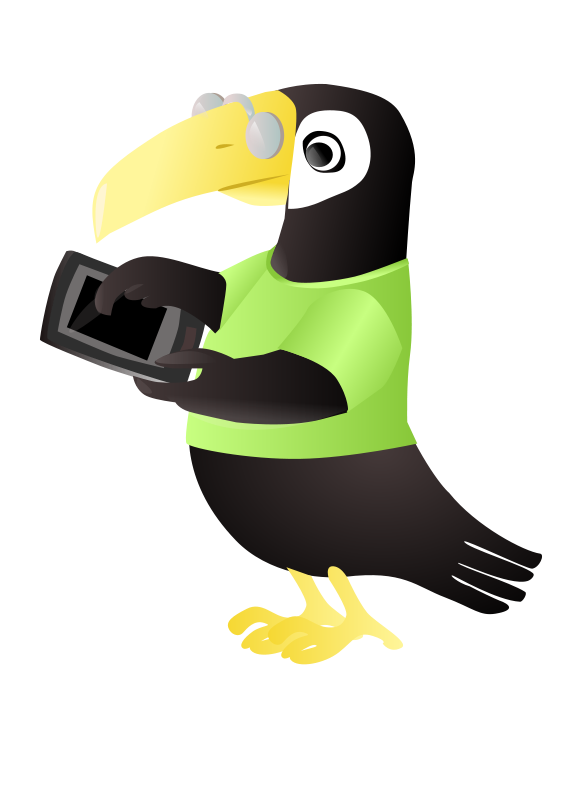 Free Toucan with tablet