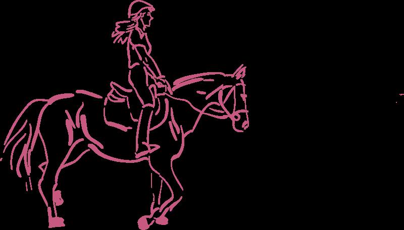 Free girl riding a horse